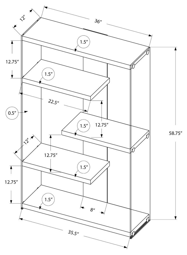 Bookcase Schematics