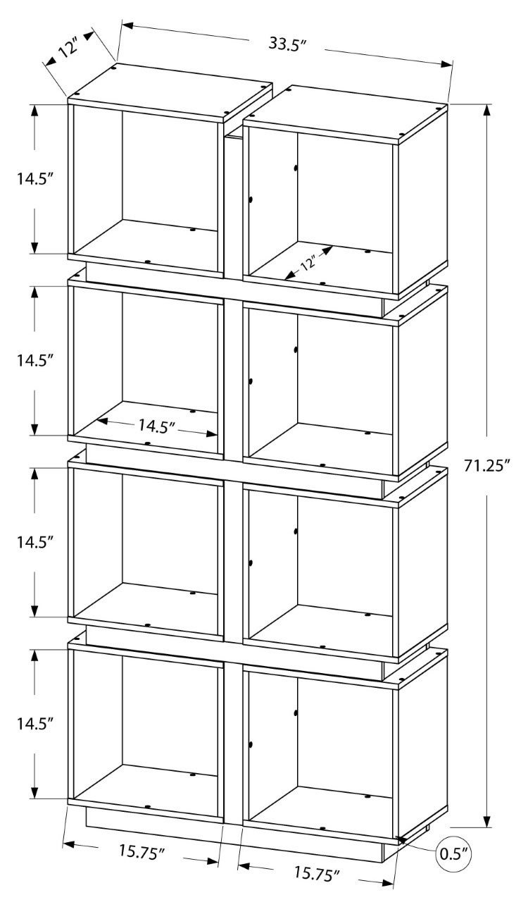 sp designs jonslund bookcase white grey i 7076. Black Bedroom Furniture Sets. Home Design Ideas